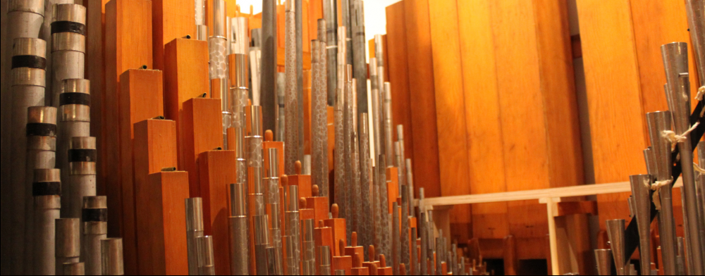 Pipes in an organ