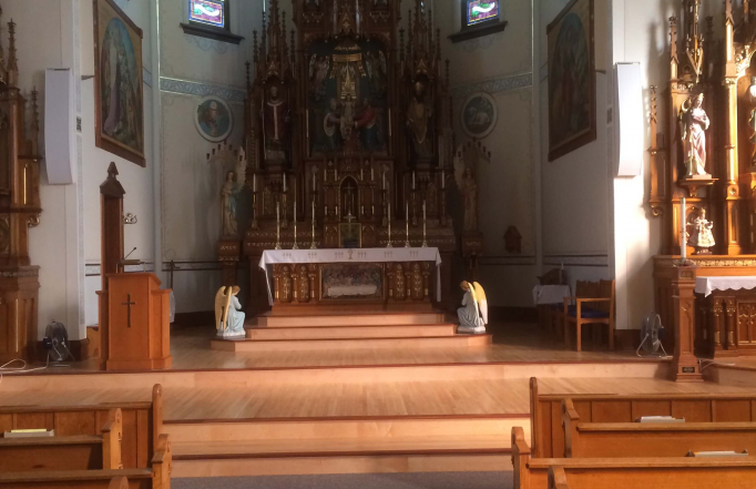 Close up of the St. Mary's chancel.