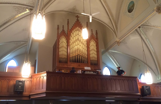 The organ nearing completion